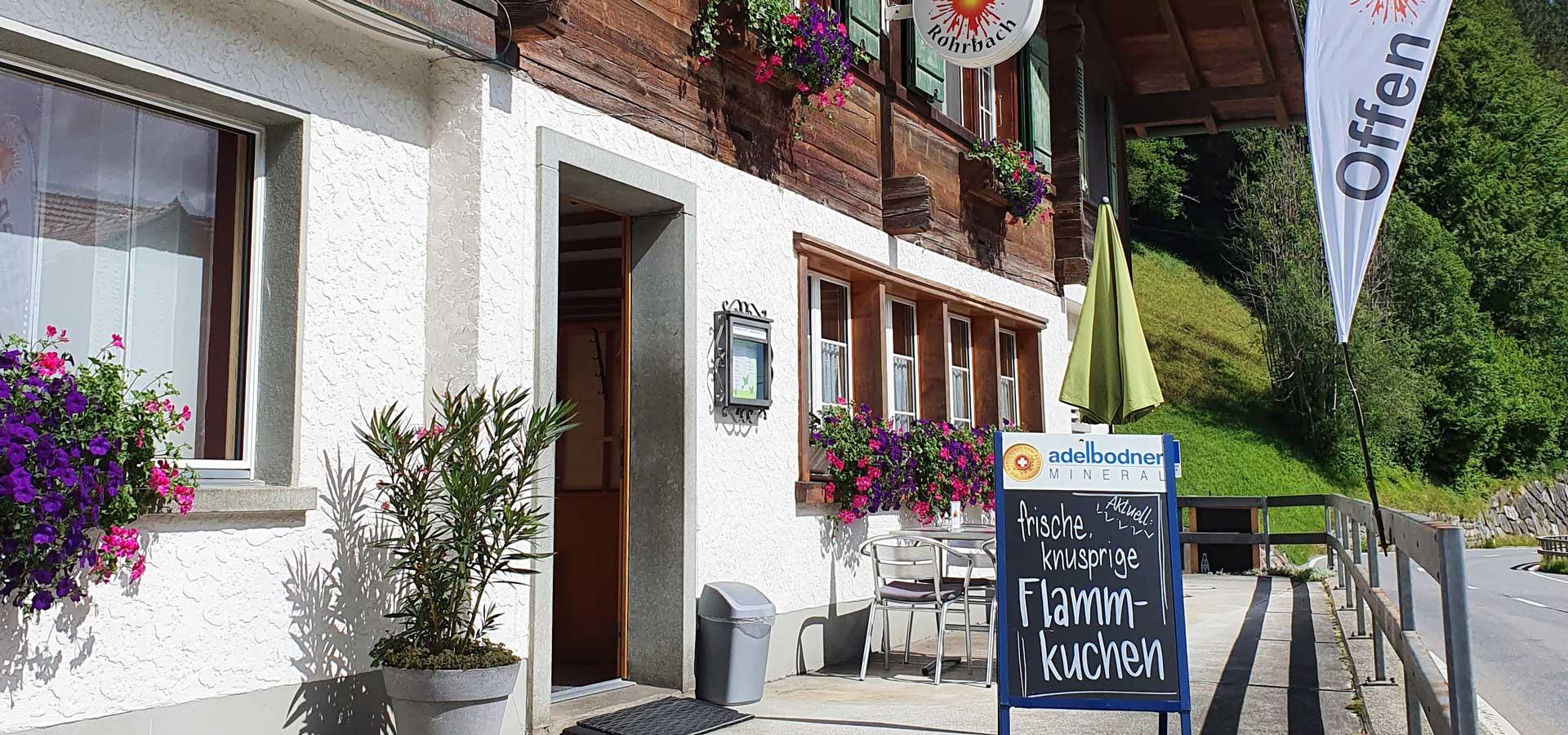 Aussenbereich Restaurant Rohrbach